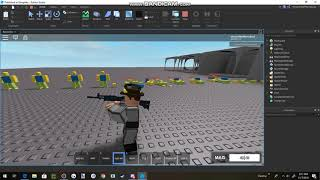 Roblox | SCP:F Site - Alpha Weapon testing