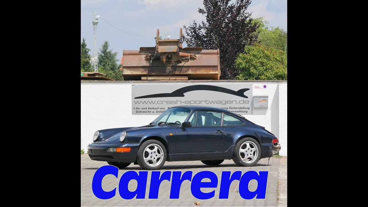 porsche 964 carrera 4 brandschaden 1991 youtube. Black Bedroom Furniture Sets. Home Design Ideas