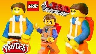 Play Doh Superhero Emmet from THE LEGO MOVIE Play Dough Tutorial DIY Legos Character