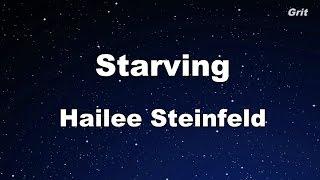 Starving - Hailee Steinfeld, Grey Karaoke 【With Guide Melody】 Instrumental