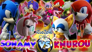 ABM: Sonic & Amy Vs Knuckles & Rouge VolleyBall Match Olympic Games!! HD