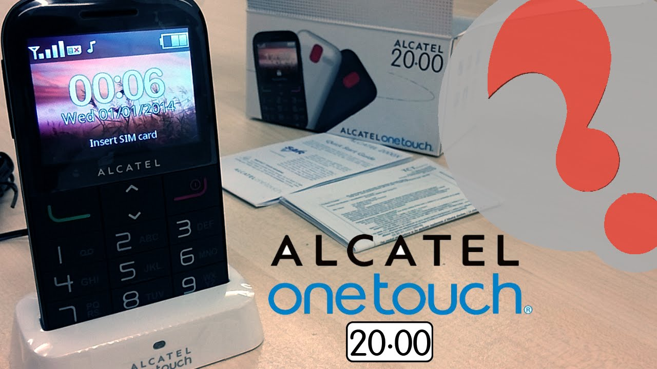 Alcatel ONETOUCH 2000 - Best Senior SOS Mobile Phone