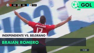 Braian Romero (2-1) Independiente vs Belgrano | Fecha 12 - Superliga Argentina 2018/2019