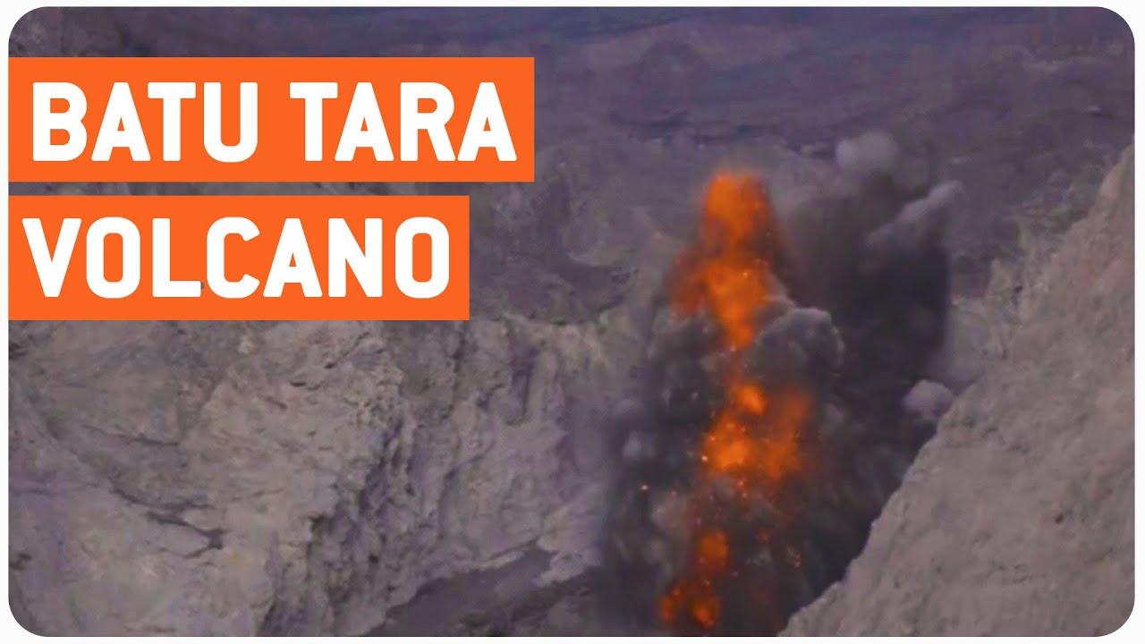 활화산의 용암폭발!