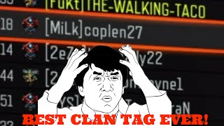 BEST CLAN TAG EVER! (Black Ops 3 Funny moments)