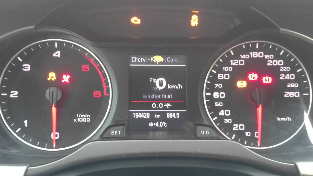 Test Zegarów Audi A4 B8 Youtube
