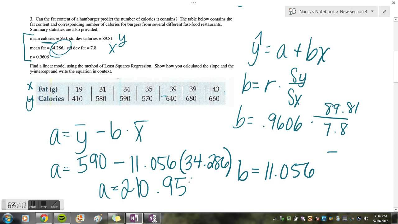 Nancy Le's Lesson On How To Find The Equation Of A Lsrl