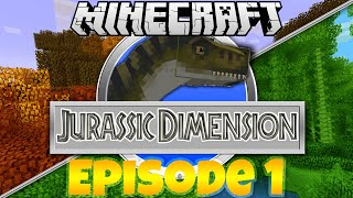 Minecraft Jurassic Dimension Modded Roleplay - Episode 1 - A World Of Dinosaurs (Rexxit Modpack)