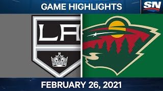 NHL Game Highlights | Kings vs. Wild - Feb. 26, 2021
