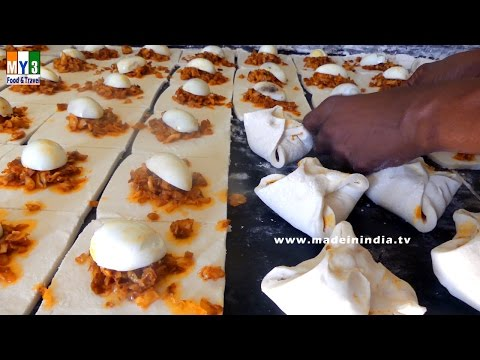 HOW TO MAKE EGG PUFFS | STREET FOOD IN INDIA | 4K ULTRA HD VIDEO