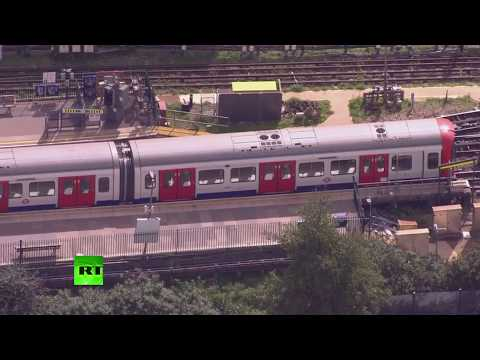 LIVE: Aerial view of Parsons Green tube station following explosion - PART 3