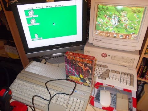Atari ST - Space Invaders + Pit Fighter, nowy zafoliowany Box!