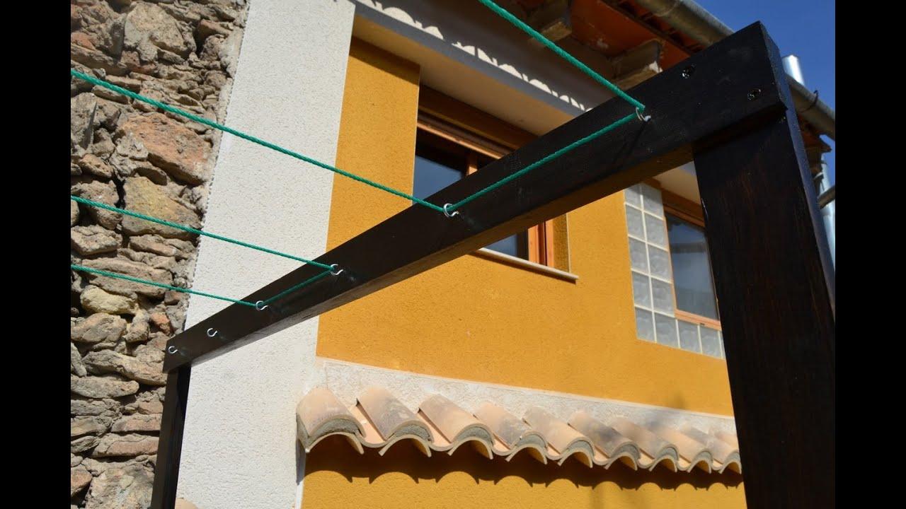 Tendedero casero  Homemade Clothes line  YouTube