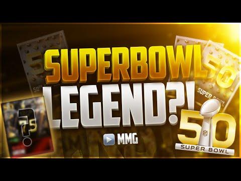 50th SUPER BOWL BUNDLE! BEST BUNDLE EVER! SUPER BOWL LEGEND TOPPER! Madden Mobile