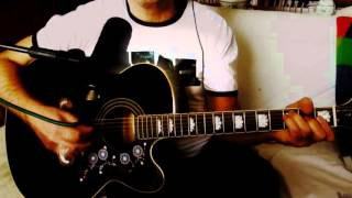 While My Guitar Gently Weeps ~ The Beatles - George Harrison ~ Cover w/ Epiphone EJ-200 CE BK & BT