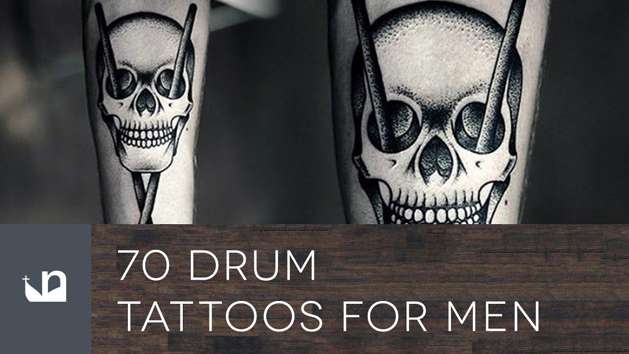 70 drum tattoos for men youtube. Black Bedroom Furniture Sets. Home Design Ideas