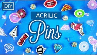 Acrilic Pins Brooches - Your own design DIY