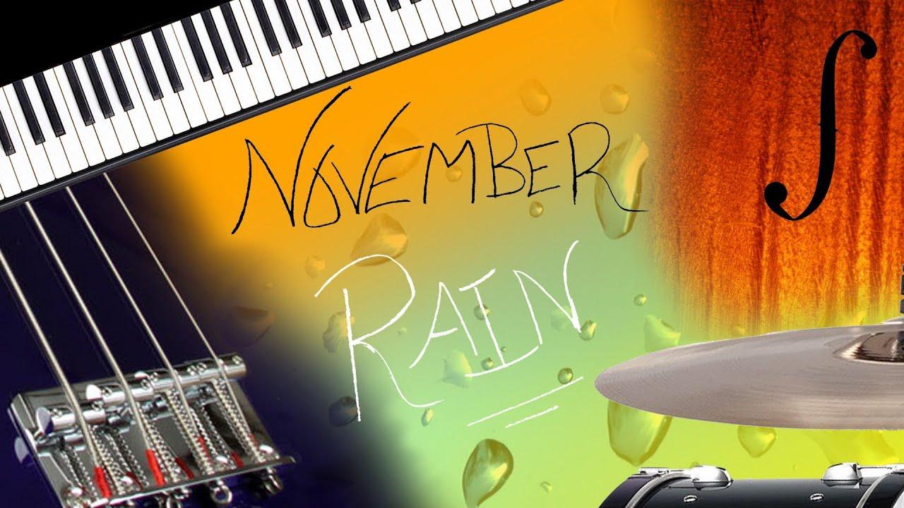 November Rain Instrumental Cover (With Lyrics) - Traducción español - YouTube