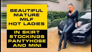 Download Beautiful Mature MILF Cougars Older Women in Pantyhose, Tights & Mini Skirts  Hot Mature Milf Ladies
