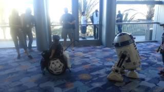 R2-d2 Brightens Boy's Day At Star Wars Celebration