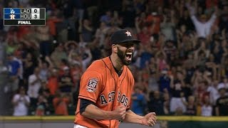 LAD@HOU: Fiers gets Turner swinging to seal no-hitter