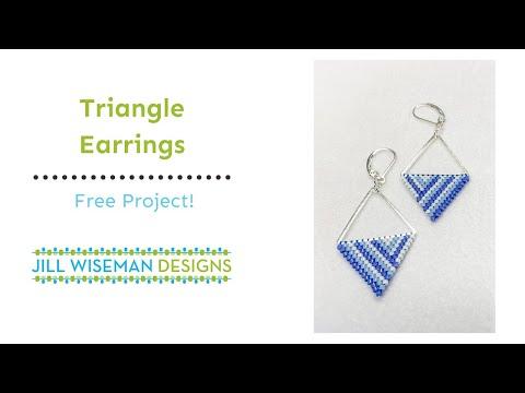 Free Project: Flat Peyote Triangles