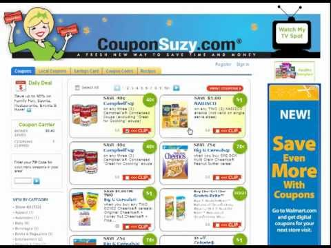 How To Print Coupons On Coupon Suzy Youtube