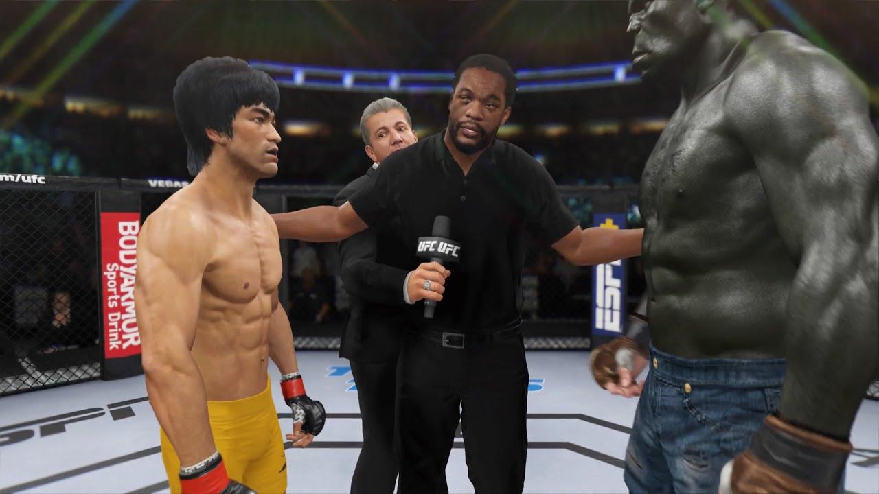 Download Bruce Lee vs. Incredible Hulk - EA Sports UFC 4 - Epic Fight 🔥🐲