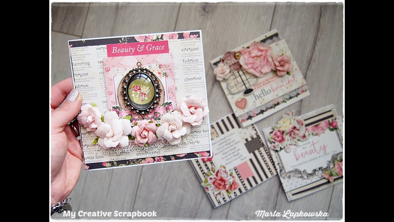 Romantic Shabby Chic Cards Tutorial for Beginners  Maremi
