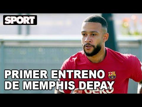 MEMPHIS DEPAY CONOCE A SUS COMPAÑEROS EN SU PRIMER ENTRENAMIENTO CON EL FC BARCELONA 🦁