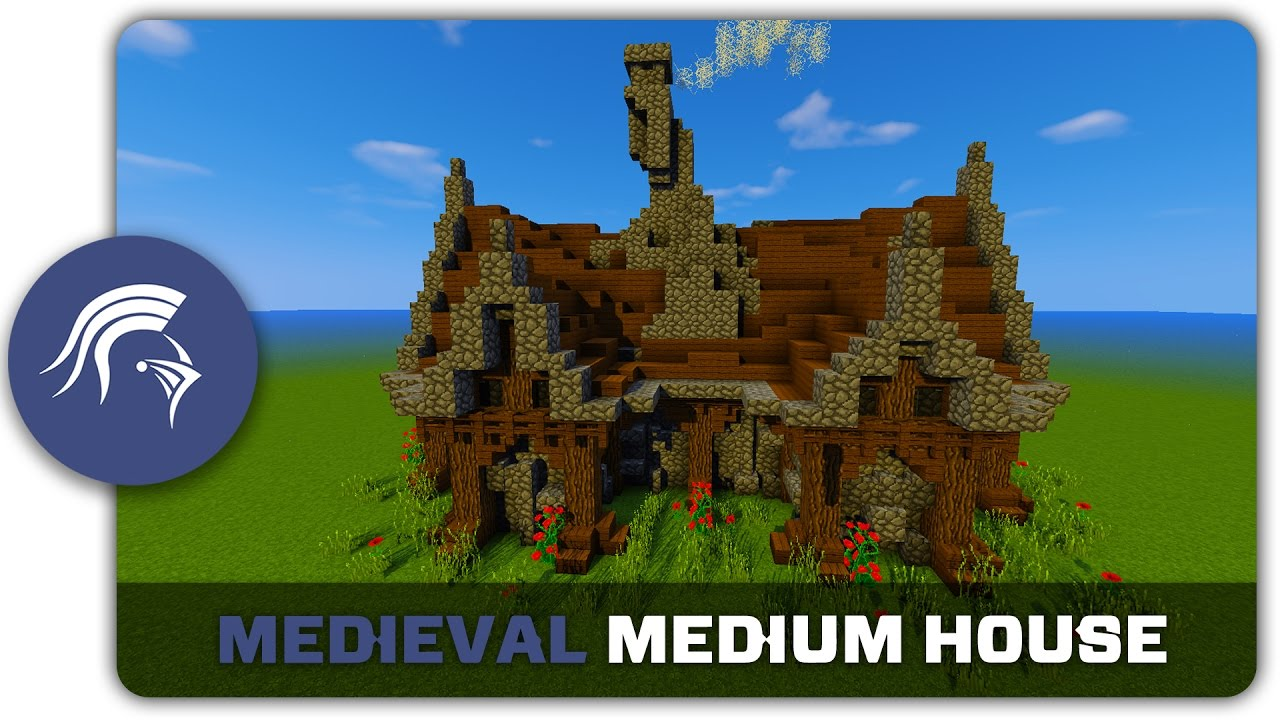 Minecraft Building Tutorial   How To Build A Medieval Medium House