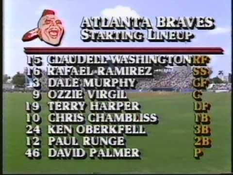 Houston Astros vs Atlanta Braves Spring Training 3-23-1986
