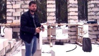Кладка блоков из газобетона. Технология. Краш-тест блоков(, 2015-12-08T06:59:37.000Z)