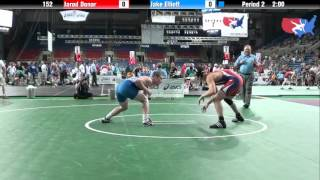 Fargo 2012 152 Round 4: Jarod Donar (Wisconsin) vs. Jake Elliott (California)
