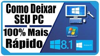 Como Deixar Seu PC 100% Mais Rápido Sem Formatar ( sem programas 2015 / 2016 ) thumbnail