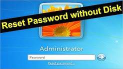 How to Reset Windows 7 Administrator Password Using Command Prompt (without Disk/Usb)