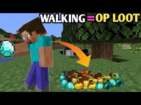 *MINECRAFT BUT WALKING GIVES YOU OP LOOT*    MINECRAFT HINDI GAMEPLAY    TECHNO GAMERZ MINECRAFT  