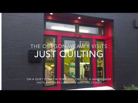 A weaver goes a quilting