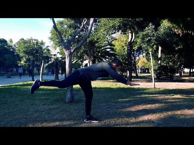 Peso muerto unilateral con pierna recta
