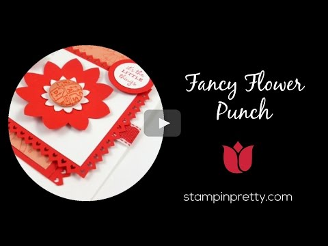 Stampin' Pretty Tutorial:  How To Use The Fancy Flower Punch In A New Way