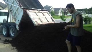 Dump Truck of Mulch