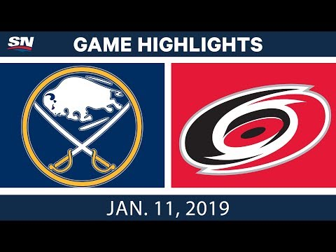 NHL Highlights | Sabres vs. Hurricanes - Jan. 11, 2019