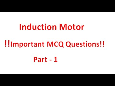 Induction Motor !! Important Mcq Questions !! Part 1