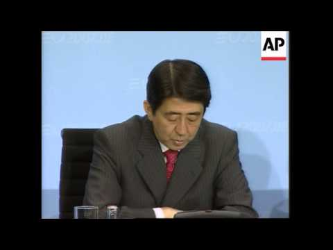Japanese PM Abe, Chancellor Merkel comment on climate change