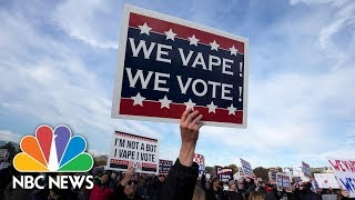 E-Cigarette Users Hold Pro-Vaping Rally Outside Of White House | NBC News