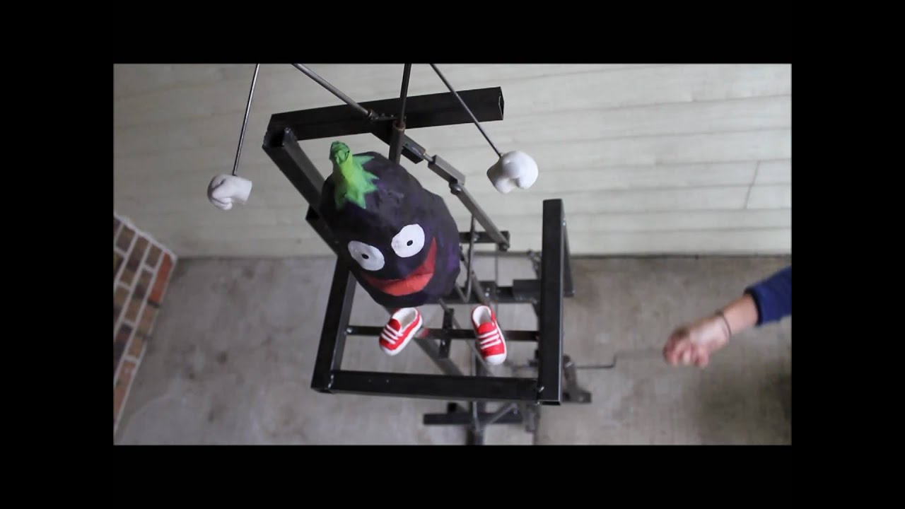 Crank Powered Dancing Eggplant Machine