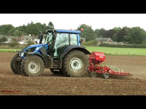 Seed Drilling with Valtra.