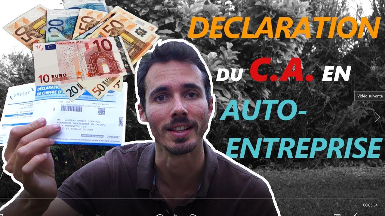 Declaration Du Chiffre D Affaire Micro Entreprise Youtube