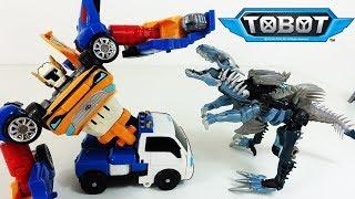 ТОБОТ Тритан и #Трансформеры Мегатрон и Диноботы захватили Тобота Зеро. Тобот Эвакуатор и Динозавры