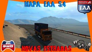 NOVAS ESTRADAS DO MAPA EAA 5.4 - EURO TRUCK SIMULATOR 2